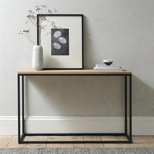 Moreton Metal and Oak Console Table