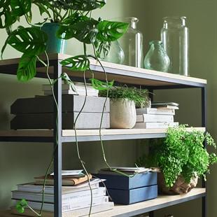 Moreton Metal and Oak Large Bookcase