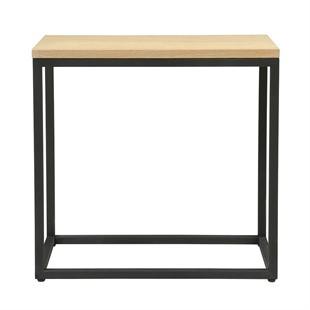 Moreton Metal & Oak Sofa Table