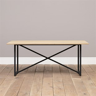 Moreton Metal and Oak NEW 180cm Dining Table
