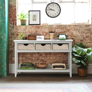 Farmhouse Dove Grey Console Table