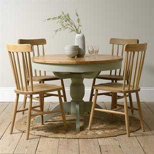 Sussex Sage Green 110-145cm Round Extending Table