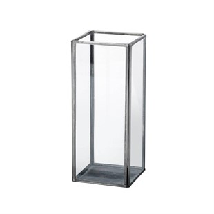 Ankara Metal and Glass Candle Lantern - Small