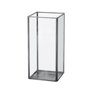 Ankara Metal and Glass Candle Lantern - Large