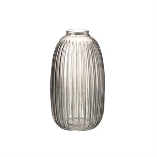 Maura Vase Light Smoke 26cm Glass