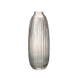 Maura Vase Light Smoke 39cm Glass