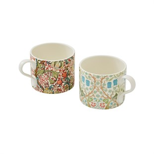 Mugs S/2 - Blackthorn and Golden Lily