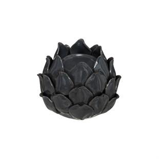 Artichoke Tealight Holder Black