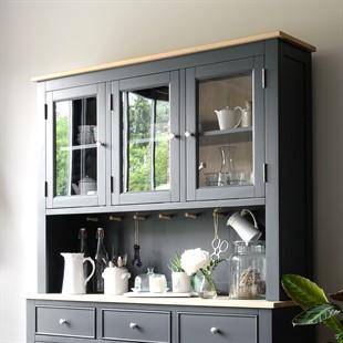 Ellwood Charcoal Glazed 3 Door Dresser Top