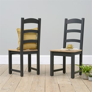 Ellwood Charcoal Ladderback Dining Chair