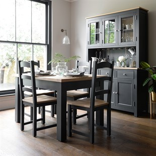 Ellwood Charcoal 132-162-192cm Ext. Dining Table
