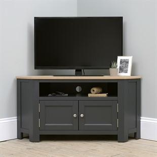 "Ellwood Charcoal Large Corner TV Unit - Up to 56"""