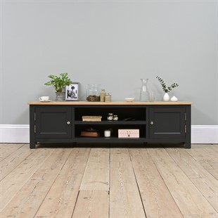 """Ellwood Charcoal Extra Large TV Stand - Up to 80"""""""