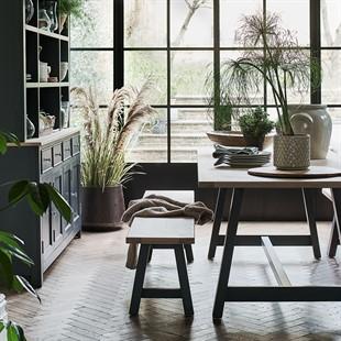 Ellwood Charcoal Large Trestle Table