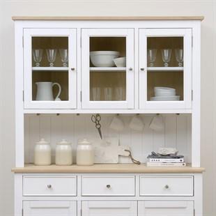 Ellwood Pure White Glazed 3 Door Dresser Top