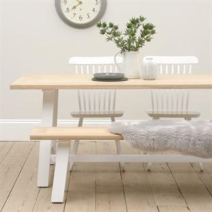 Ellwood Pure White Mid-Sized Trestle Table