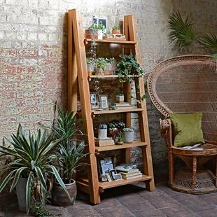 Montague Oak Ladder Bookcase