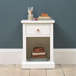 Littleton Warm White 1 Drawer Bedside