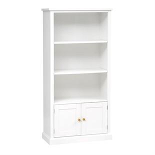 Littleton Warm White Large Bookcase