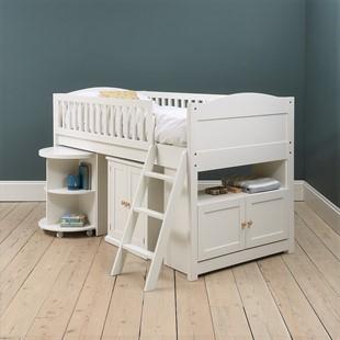 Littleton Warm White Mid-Sleeper with Desk