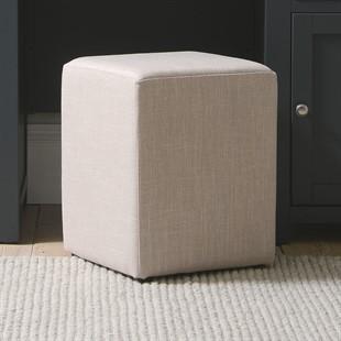 Amberley Square Stool - Stone Linen