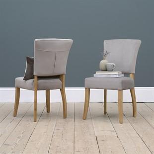 Bluebell Chair - Pewter Velvet