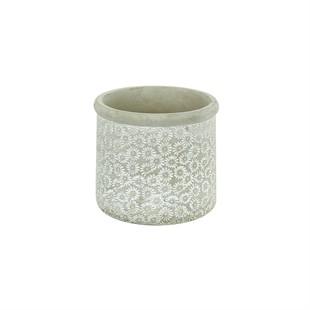 Grey Daisies Cement Planter 13.5cm
