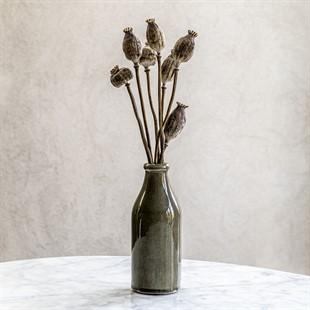 Harpley 22cm Ceramic Vase - Grey