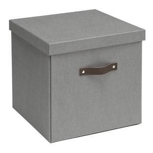 Canvas Storage Box - Grey