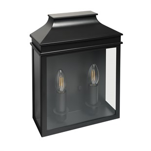 Saxby Double Light Coach Lantern Charcoal
