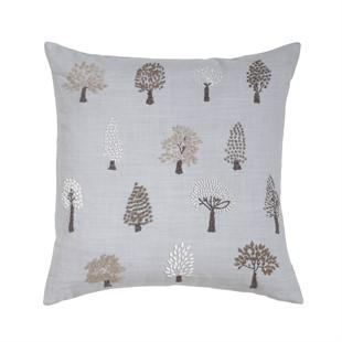Trees Cushion - Pale Blue/Grey