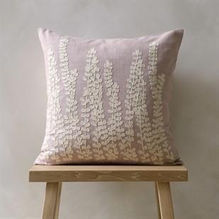 Fern Fronds Cushion - Pale Linen