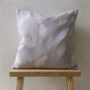 Fern Leaves Cushion - Grey Tint
