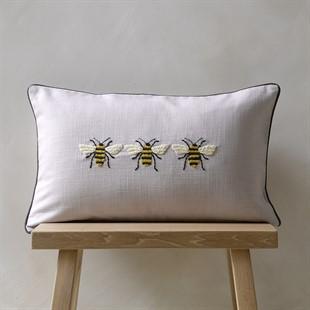 Three Bees Cushion - Natural