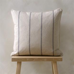 Galway Stripe Cushion Charcoal 50x50cm
