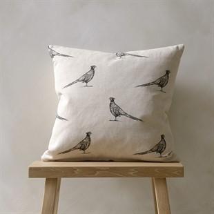 Woodland Cushion – Frank Black/Natural 43x43cm