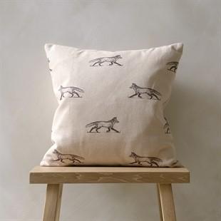 Woodland Cushion – Samantha Black/Natural 43x43cm