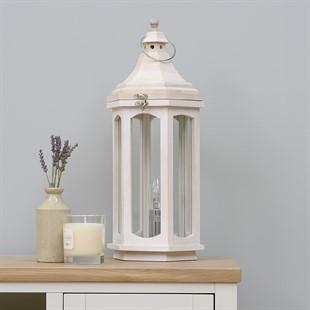 Safaa Lantern Style Table Lamp - White
