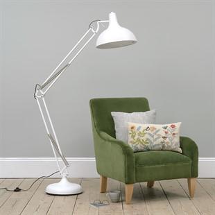 Large Task Floor Lamp - White