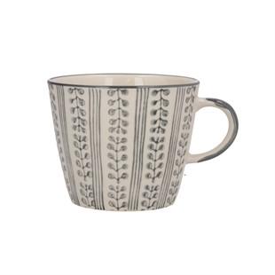 Grey Stripe Berry Ceramic Mug