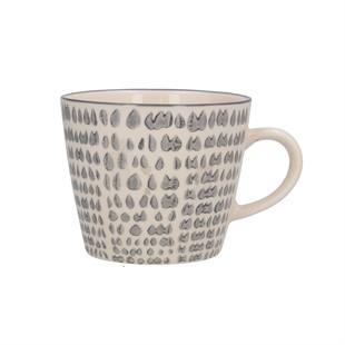 Grey Teardrop Ceramic Mug