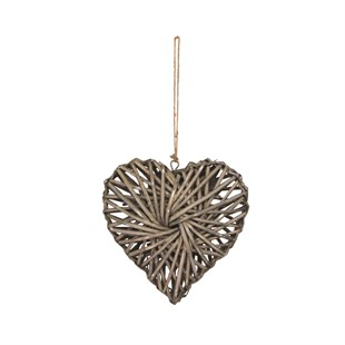 Woven Willow Heart Decoration