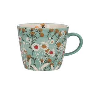 Blue Wild Daisy Ceramic Mug