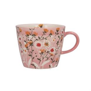 Pink Wild Daisy Ceramic Mug