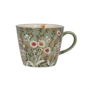 Green Wild Daisy Mug