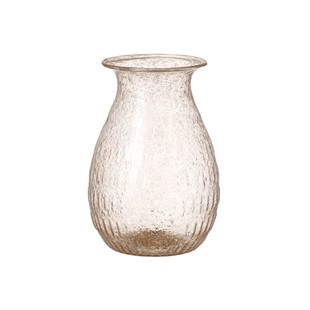 Carly Recycled Glass Vase - Pink