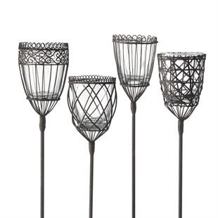 Single Assorted Metal Garden Torch