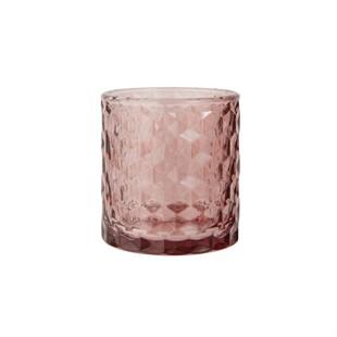 Glass Tealight Holder Blush Pink