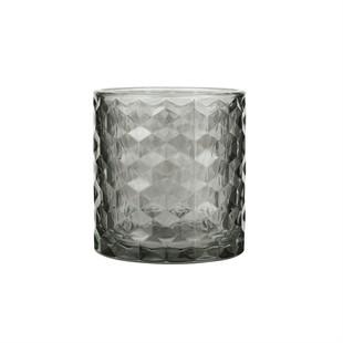 Glass Tealight Holder Grey