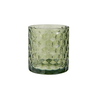 Glass Tealight Holder Green
